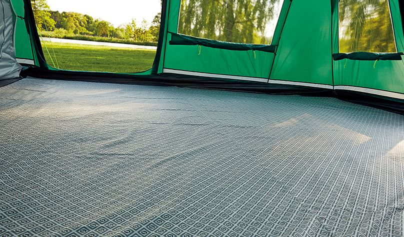 Warm carpets under foot in your tent