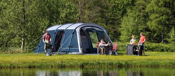 Outwell tents with steel poles