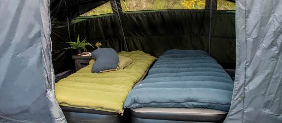 Outwell sleeping bags, pillows, mats and airbeds