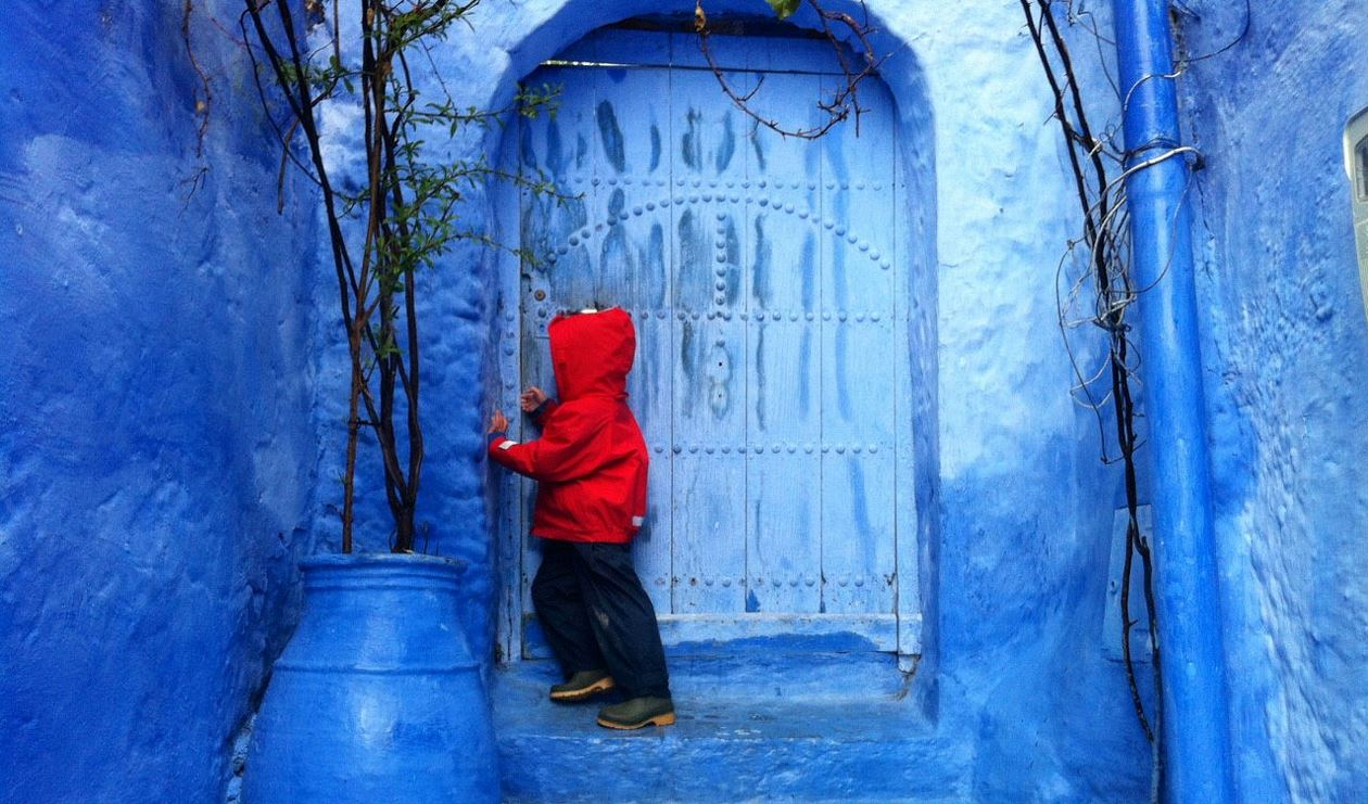 Kid exploring the sights of Morocco