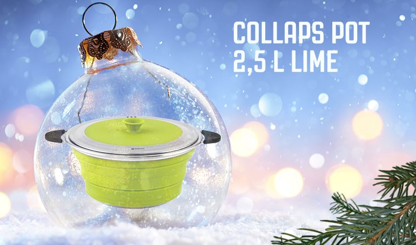 Collaps Pot in Lime Green