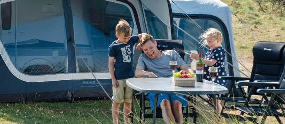Camping with a caravan