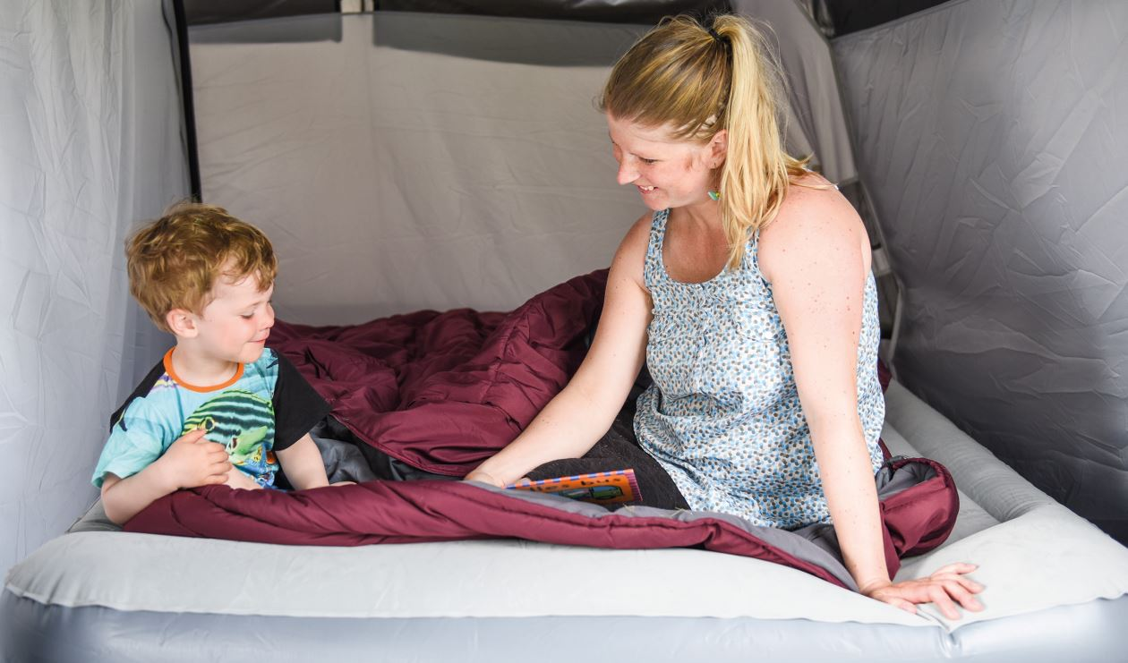 Family camping with Colibri Lux Double
