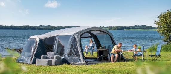 6 person family camping tent with wing lounge from Outwell