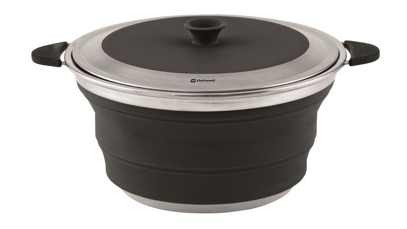 Outwell Collaps Pot with Lid L Midnight Black