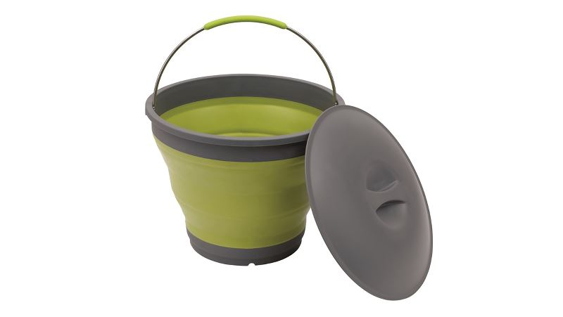 Outwell Collaps Bucket w/lid Lime Green