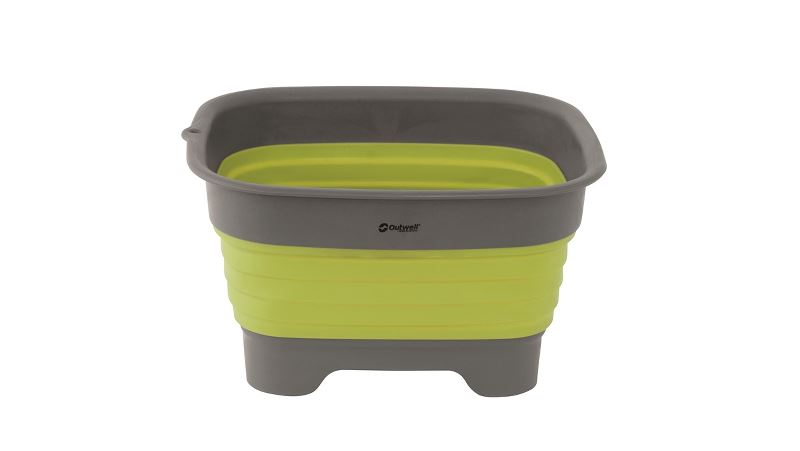 Outwell Collaps Wash Bowl w/drain Lime Green