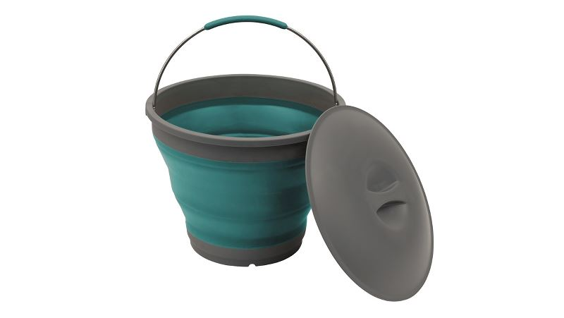 Outwell Collaps Bucket w/lid Deep Blue