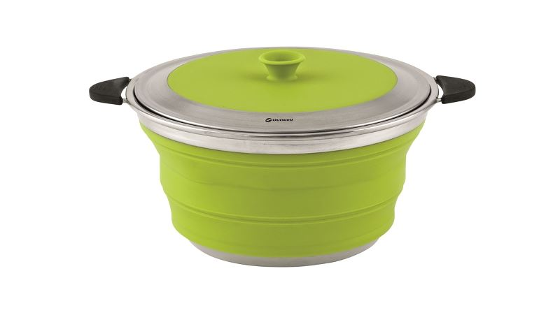 Outwell Collaps gryta med lock 4,5 l Lime Green