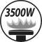 Burner output 3500W