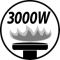 Burner output 3000W