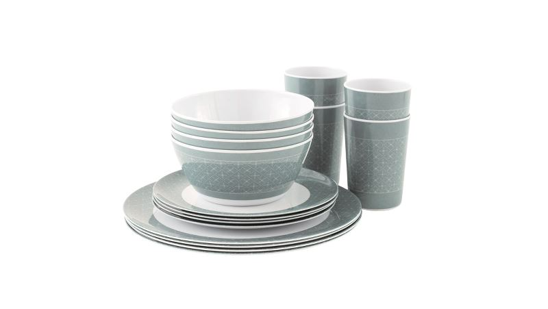 Outwell Blossom Picknick Set für 4 Personen Blue Shadow
