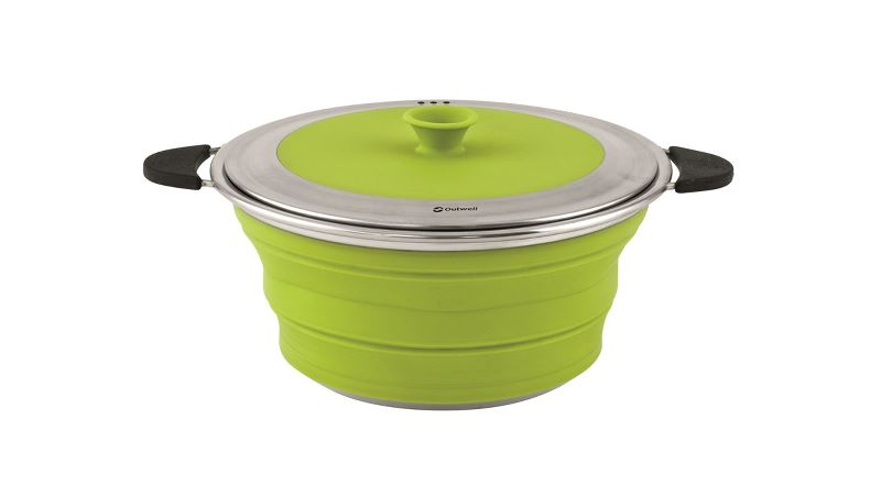 Outwell Collaps gryta med lock 2,5 l Lime Green