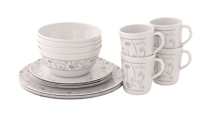Outwell Dahlia 4 Person Dinner Set