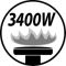 Burner output 3400W