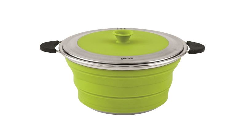 Outwell Collaps Pot with Lid M Lime Green