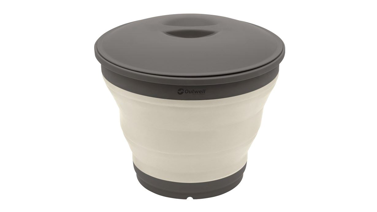 Outwell Collaps Bucket w/lid Cream White